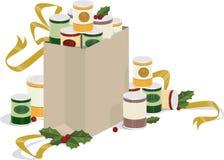 Laufwerk des Feiertags in Büchsen konservierte Nahrungsmittel lizenzfreies stockbild