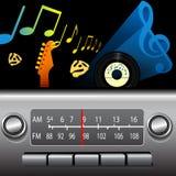 Laufwerk-Zeit-Armaturenbrett-Funk-Musik-Sendung morgens-FM vektor abbildung
