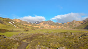 Laugahraun lavafält, Fjallabak naturreserv, Island Royaltyfri Fotografi
