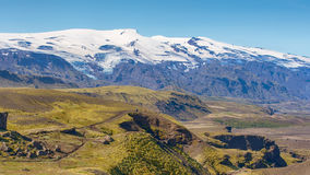 Laugarvegur slinga, Fjallabak naturreserv, Island Royaltyfria Bilder