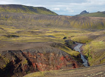 Laugavegur hike in Iceland. Royalty Free Stock Images