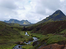 Laugavegur, Iceland. On the Laugavegur hike in Iceland, South east of lake Alftavatn Stock Image