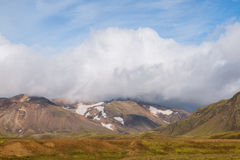 Laugavegur trail. Mountains and snow on the Laugavegur trail - towards Alftavatn - Iceland Stock Photos