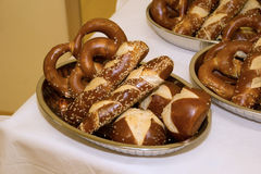 Laugen pretzels and sticks Stock Photos