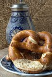 Bavarian bread specialty: Laugenbrezeln stock photography