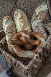 German lye breads royalty free stock photo