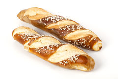Laugenstangerl fresco - tedesco, pane austriaco del rotolo immagini stock