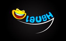 Laugh Background. Illustration of laughing expression with smiley Stock Image