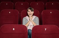 Laugh at the cinema Stock Images