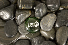 Laugh Encouragement Stone Stock Photo