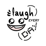 Laugh every day message Royalty Free Stock Photo