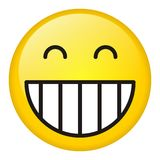 Laugh icon. Over white background Royalty Free Stock Photography