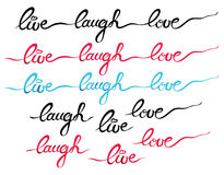 Laugh Live Love Text Lettering Stock Photography