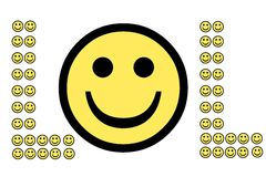 Laugh Out Loud. Smiley faces make up the text acronym LOL Royalty Free Stock Photo