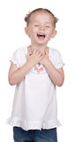Laugh Out Loud. A girl is laughing hysterically Royalty Free Stock Photos