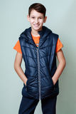 Laugh and smile - close-up portrait of a child boy's sports Royalty Free Stock Photos