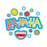 Laugh Sticker, Chat Message Label Icon Colorful Banner Royalty Free Stock Photography