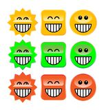 Laugh symbols. Set illustration royalty free illustration