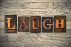 Laugh Wooden Letterpress Theme Royalty Free Stock Image