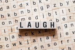 Laugh word concept royalty free stock images