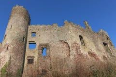 Laugharne城堡,威尔士 免版税库存照片