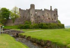 威尔士城堡Laugharne 免版税库存图片