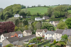 Laugharne, aerial view Stock Images