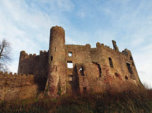 Laugharne Castle, Camarthenshire Wales stock photo
