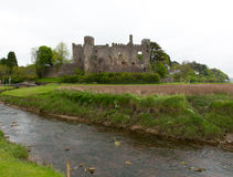 Laugharne Castle Carmarthenshire Wales Stock Photography