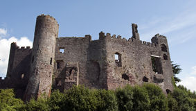 Laugharne Castle in South Wales Stock Images