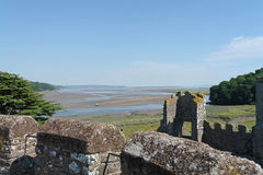Laugharne Castle Views Stock Photos