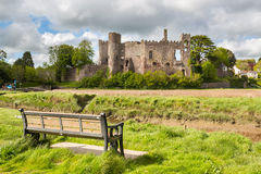 Laugharne Castle Wales Stock Images