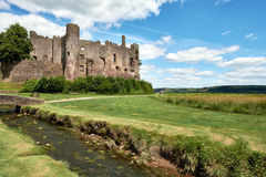 Laugharne castle, wales, pic taked in a sunny day. Wales, uk, europe Royalty Free Stock Images