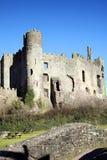 Laugharne-Schloss, Wales Lizenzfreies Stockfoto