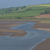Laugharne Taf Estuary Wales Stock Photos