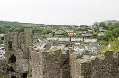Laugharne town and castle Royalty Free Stock Photography