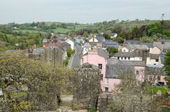 Laugharne town centre from above Royalty Free Stock Photos