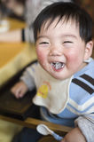 Laughed baby Stock Image