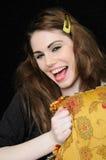 Laughin ruidosamente Fotografia de Stock Royalty Free