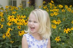 Laughing. Happy little girl Royalty Free Stock Image