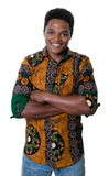 Laughing african american guy with typical clothes from Africa Royalty Free Stock Photos