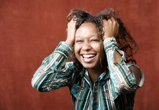 Laughing African-American Woman stock photos