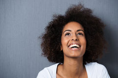 Laughing African American woman royalty free stock photography