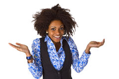 Laughing african american woman Stock Images