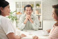 Laughing aged man Royalty Free Stock Images