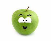 Laughing apple stock images