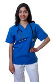 Laughing arabic nurse royalty free stock photography