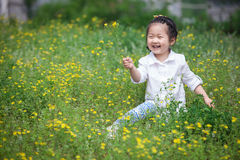 Laughing Asia girl Royalty Free Stock Photos