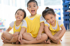 Laughing asian children Royalty Free Stock Photography