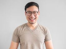Laughing Asian man. stock photography